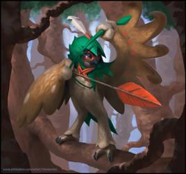 Robinroot, 7th gen starter pokemon by C0nstantini