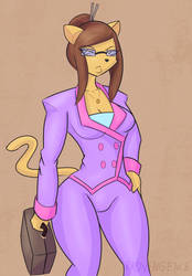 LAWYER CAT by Radvengence