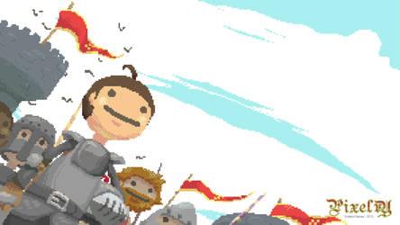 Pixelry Heroes - Wallpaper by Toen