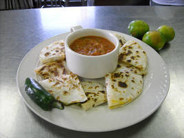 Poblano cheese quesadillas by FrogsRSexy