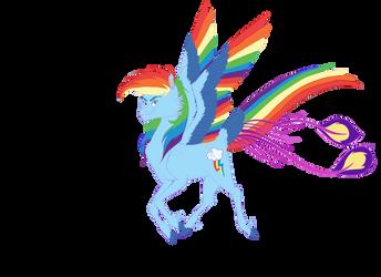 Rainbow Dash New Concept by animalpainter