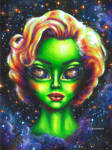 Iconic Alien Women: Marilyn by umantsiva