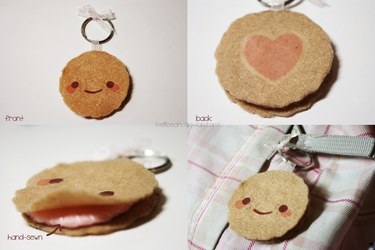 Cute Cookie Keychain by KelliBean