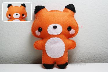 Fox Plushie by KelliBean