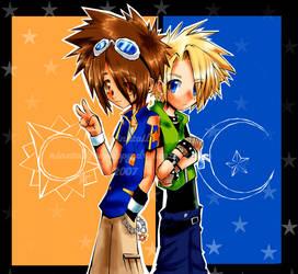 Taichi and Yamato by ninetailfoxpuppy