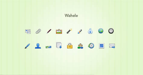 Wahele icon set by simiographics