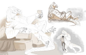 gilbert sketches by moodymod