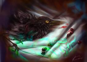 Sick bird by Kuroi-kisin