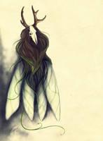 Deer moth by Kuroi-kisin