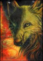 Sketchbook wolf by Kuroi-kisin