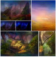 landscapes by Kuroi-kisin