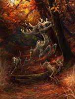 Autumn hunt by Kuroi-kisin