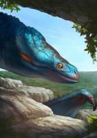 Blue dragon by Kuroi-kisin