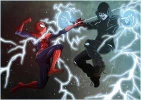 Spidey vs Electro by TovMauzer