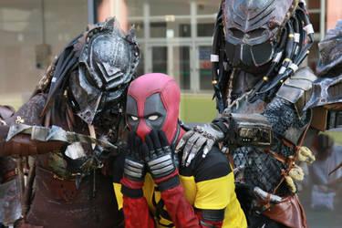 Deadpool e Predator by HOMER65