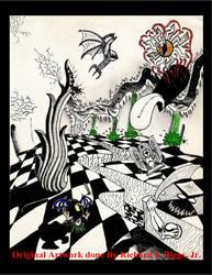 Checker Series X by AbstractPagan