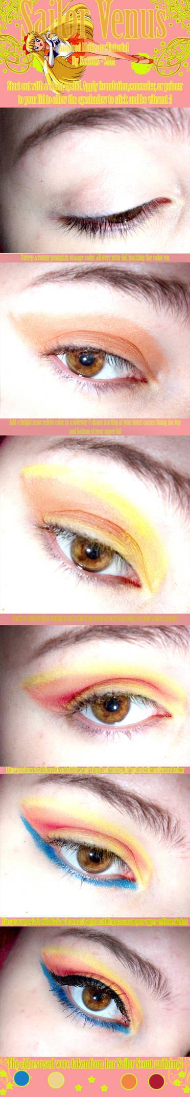 Sailor Venus Makeup Tutorial by kattors
