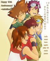 Digimon 10th Anniversary by taichikun14