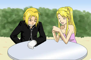 Ed and Winry for pookiesuncle by taichikun14