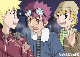 Digimon 02 boys for thiro by taichikun14