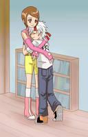 Setsuna Hug for blackvegetable by taichikun14