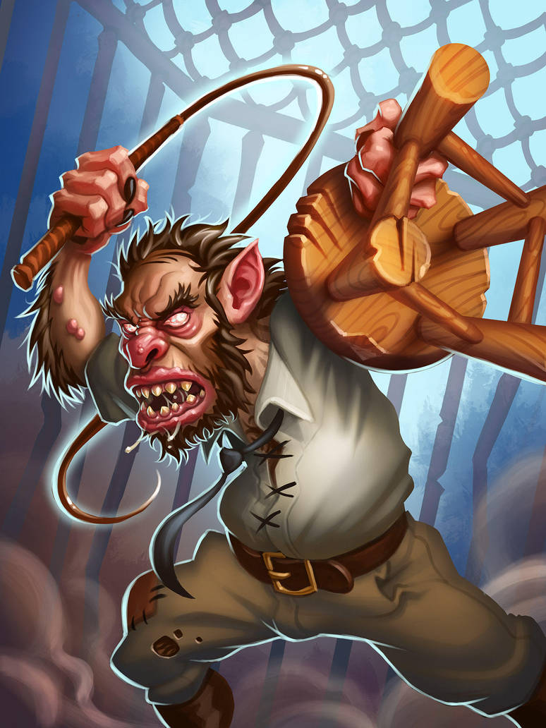 Hearthstone Trogg Beastrager by burncomics