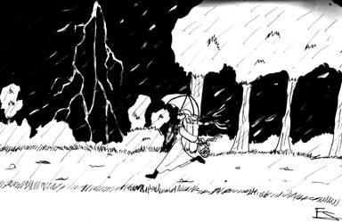 Inktober  day 27: Thunder by Lady--knight