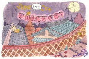Birthday postcard for Rebecca by zpxlng