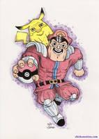 Postcard 43: Bison and Pikachu by zpxlng