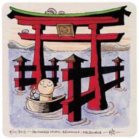 Coaster 52: Shrine Gate by zpxlng