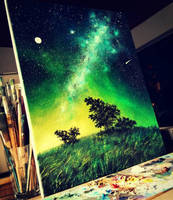 Nigth sky painting by Cleicha