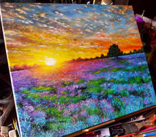 Landscape oil painting by Cleicha