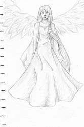 Angel Sketch by Inryoku-chan