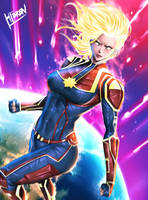 Captain Marvel by Hibren
