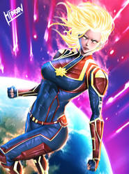 Captain Marvel by Hibren