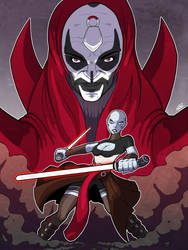 Star Wars Asajj Ventress Fanart - Finished by EzJedi