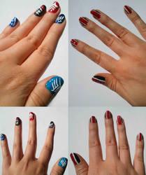 Mass Effect nail art by Sayamaru
