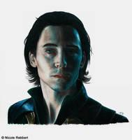 Loki in Jotunheim by Quelchii