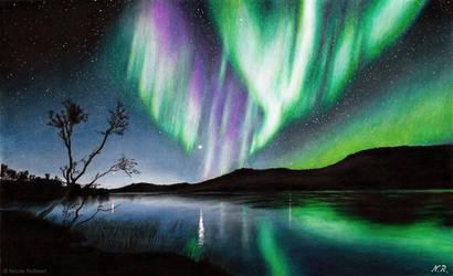 Aurora drawing by Quelchii