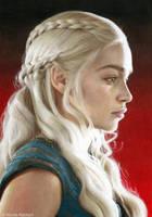 Daenerys (drawing) by Quelchii