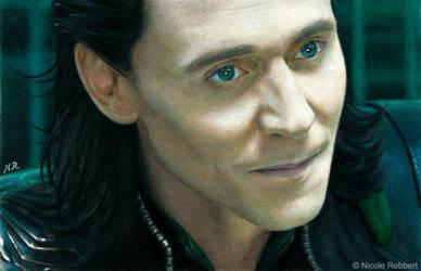 Mischievous Loki (drawing) by Quelchii