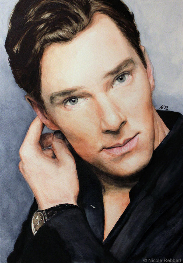 Benedict Cumberbatch (watercolor) by Quelchii