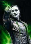Loki - Magic (drawing) by Quelchii