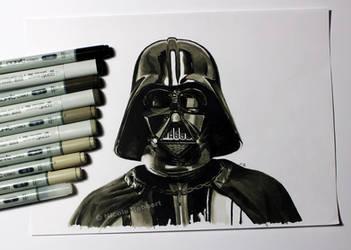 Darth Vader (marker sketch) by Quelchii