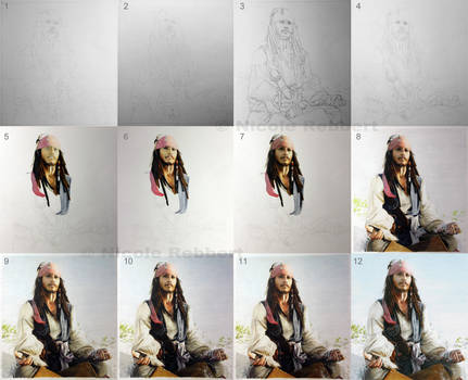 Jack Sparrow step by step by Quelchii