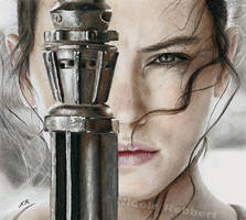 Star Wars - Rey (drawing) by Quelchii