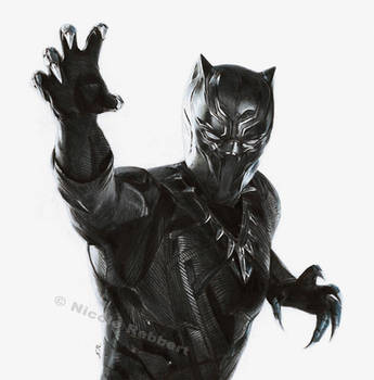 Black Panther (drawing) by Quelchii