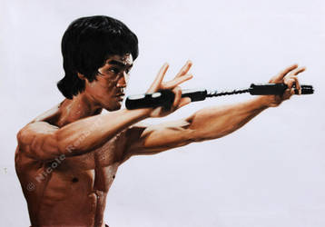 Bruce Lee (Commission) by Quelchii