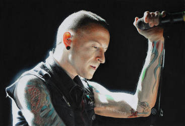 Linkin Park - Chester Bennington (drawing) by Quelchii