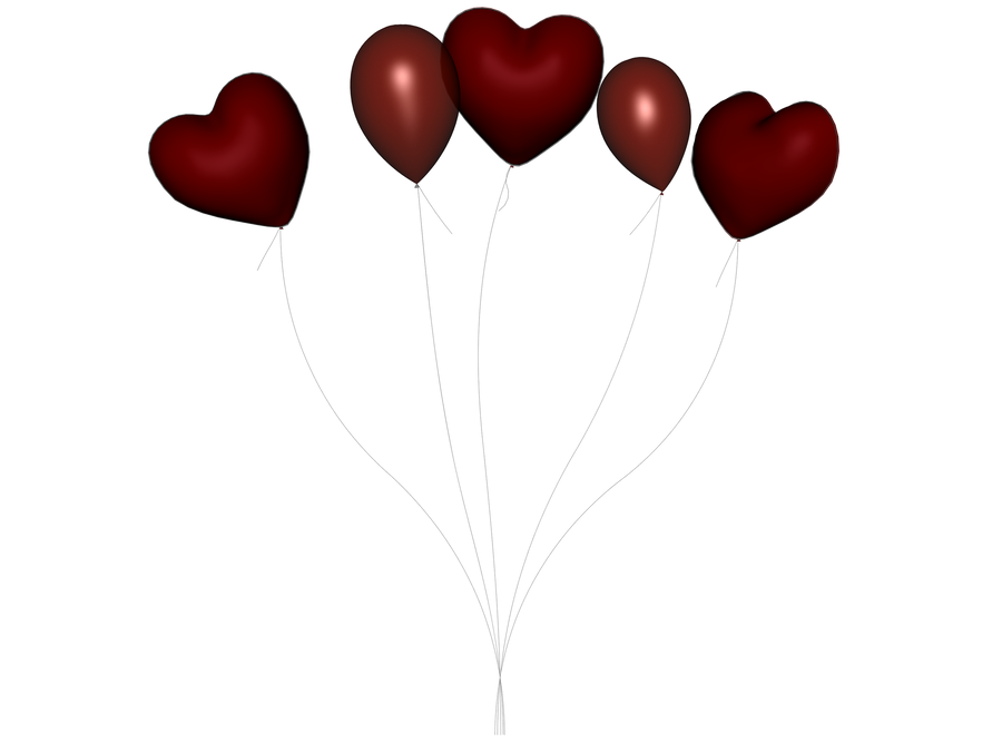 STOCK PNG red balloon 4 by MaureenOlder